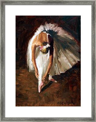 Ballerina With Pink Shoes Framed Print by Roelof Rossouw