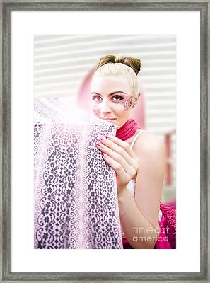 Ballerina With Umbrella Framed Print by Jorgo Photography - Wall Art Gallery