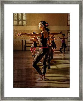 Framed Print featuring the photograph Ballerina by Lou Novick