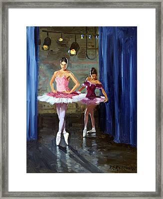 Ballerinas Backstage Framed Print by Roelof Rossouw