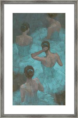Ballerinas In Blue Framed Print