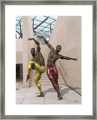 Ballet At The Caixa Forum Barcelona Framed Print by Quim Abella