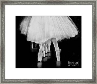 Ballet Black And White Framed Print by Kevin Moore