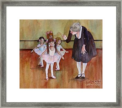 Ballet Class Framed Print by Sherri Crabtree