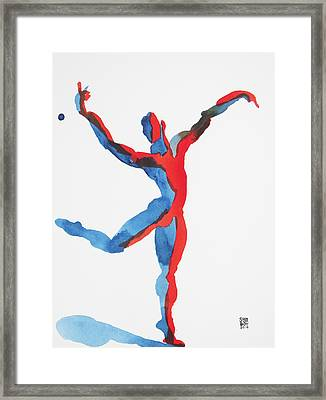Framed Print featuring the painting Ballet Dancer 3 Gesturing by Shungaboy X