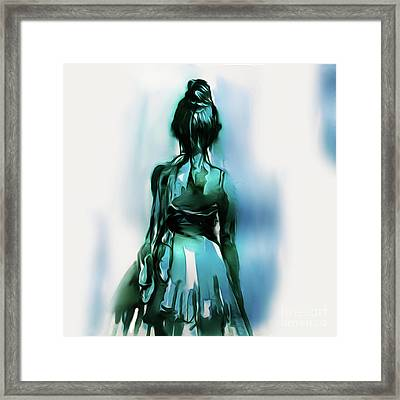 Ballet Dancer Backside 02 Framed Print