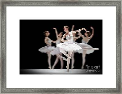 Framed Print featuring the photograph Ballet Dancer Dance Photography Long Exposure by Dimitar Hristov