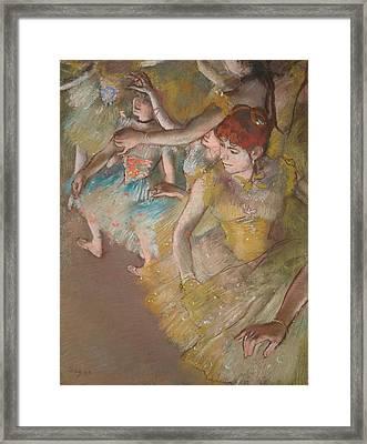 Ballet Dancers On The Stage 1883 Framed Print by Edgar Degas