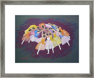 Ballet Dancers Framed Print by Rae  Smith PSC