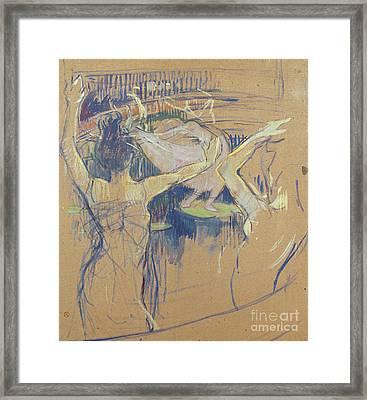 Ballet De Papa Chrysantheme, 1892 Framed Print by Henri de Toulouse-Lautrec