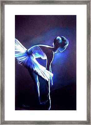 Ballet In Blue Framed Print by L Lauter