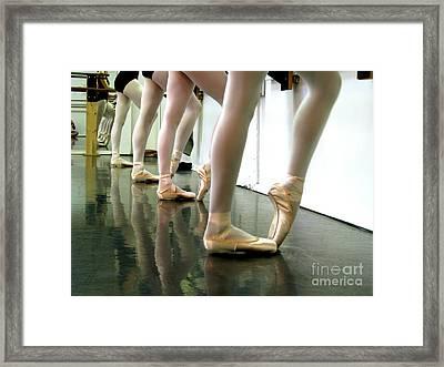 Ballet In Studio Framed Print by Chiara Costa