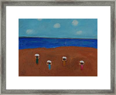 Ballet In The Sands Framed Print by Harris Gulko