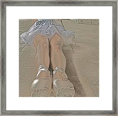 Ballet Legs Framed Print by Alison Mae Photography