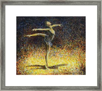Framed Print featuring the painting Ballet by Nik Helbig