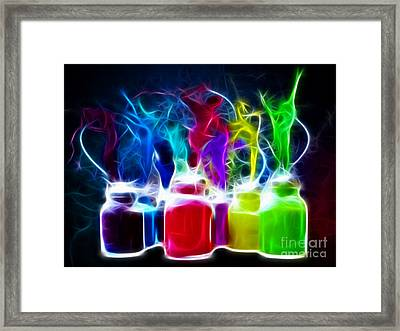 Ballet Of Colors Framed Print