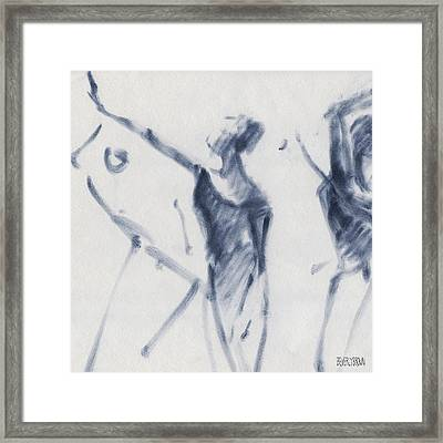 Ballet Sketch Arm Reaching Out Framed Print by Beverly Brown