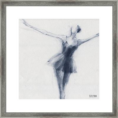 Ballet Sketch Dying Swan Framed Print by Beverly Brown