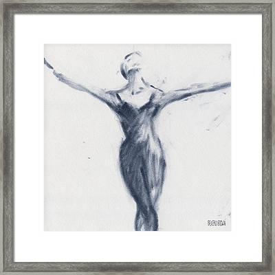 Ballet Sketch Open Arms Framed Print