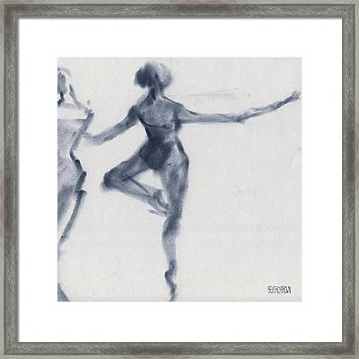 Ballet Sketch Passe En Pointe Framed Print by Beverly Brown