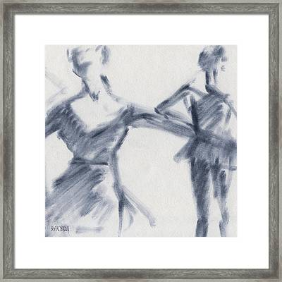 Ballet Sketch Two Dancers Gaze Framed Print