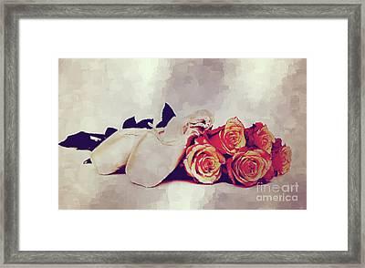 Ballet Still Framed Print by KaFra Art