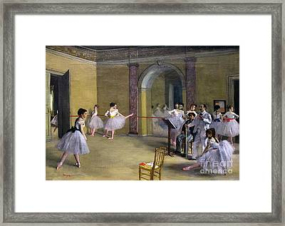 Ballet Studio At The Opera In Rue Le Peletier, E Foyer De La Dan Framed Print