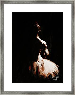 Ballet Woman 9j Framed Print