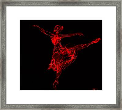 Balletic Poise And Elegance Framed Print by Abstract Angel Artist Stephen K