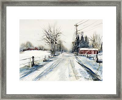 Ballina Road Framed Print by Judith Levins