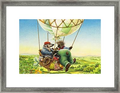 Ballon Ride Framed Print