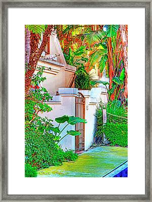 Framed Print featuring the photograph Ballona Lagoon Gate by Chuck Staley
