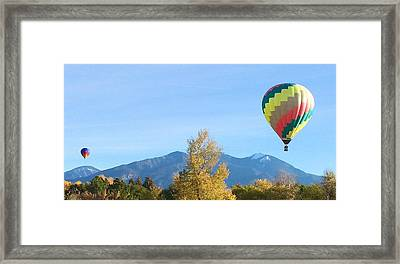 Ballons At Taos Mountain Framed Print