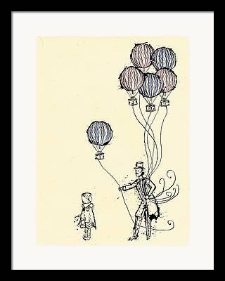 Balloon Vendor Framed Prints