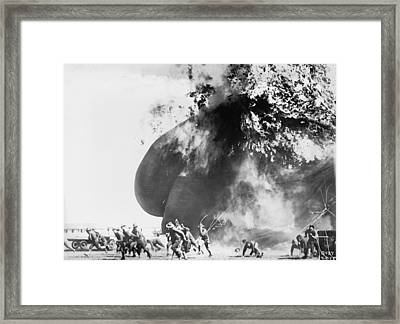 Balloon Accident, The Explosion Of An Framed Print by Everett