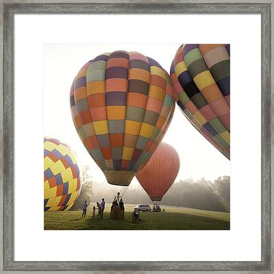 Balloon Day Is A Happy Day Framed Print by Rob Travis