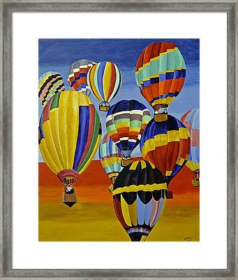 Balloon Expedition Framed Print by Donna Blossom