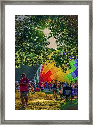 Framed Print featuring the photograph Balloon Fest Spirit by Kendall McKernon