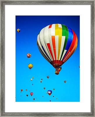 Balloon Festival Framed Print by Juergen Weiss