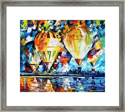 Balloon Festival New Framed Print by Leonid Afremov