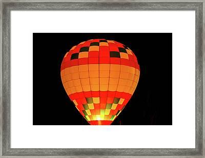 Balloon Glow 1 Framed Print by Lone Dakota Photography