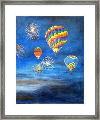 Balloon Glow Framed Print