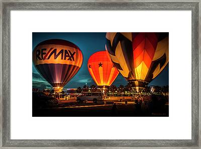 Balloon Glow Framed Print by Marvin Spates