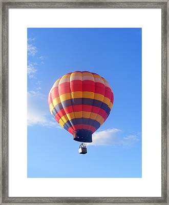 Balloon In Flight Framed Print by Eddie Armstrong