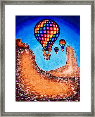Balloon Kats Framed Print