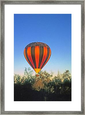 Balloon Launch Framed Print by Gary Wonning