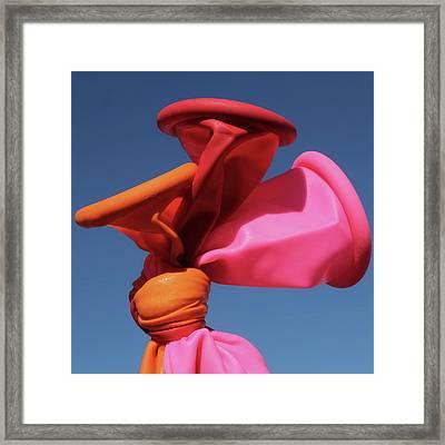 Balloon Lips Framed Print