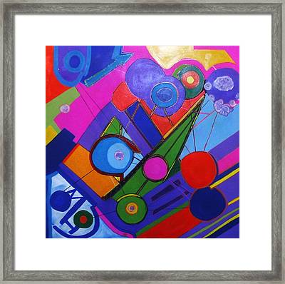 Balloon Party Framed Print by HollyWood Creation By linda zanini