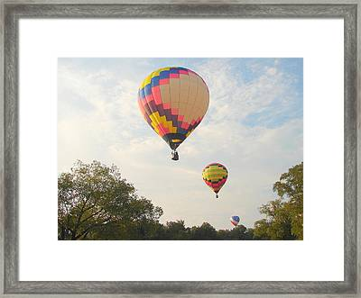 Balloon Race Framed Print by Luciana Seymour