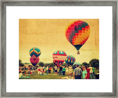 Balloon Rally Framed Print by Kathy Jennings